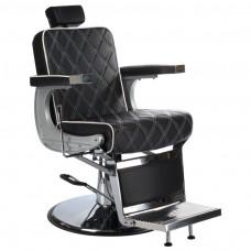 Fotel barberski LUMBER BH-31825 Czarny LUX