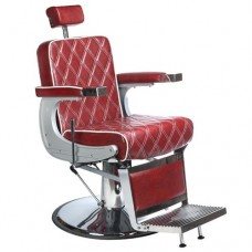 Fotel barberski LUMBER Bordowy LUX